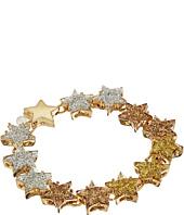 Betsey Johnson - Gold Star Glitter Flex Bracelet