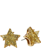 Betsey Johnson - Gold Star Glitter Stud Earrings