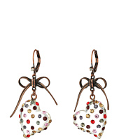 Betsey Johnson - Multi Lucite Heart Drop Earrings