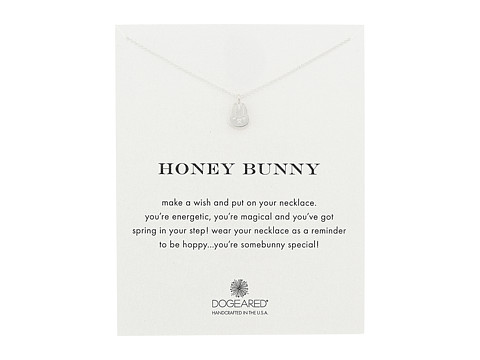 Dogeared Honey Bunny Reminder Necklace - Sterling Silver