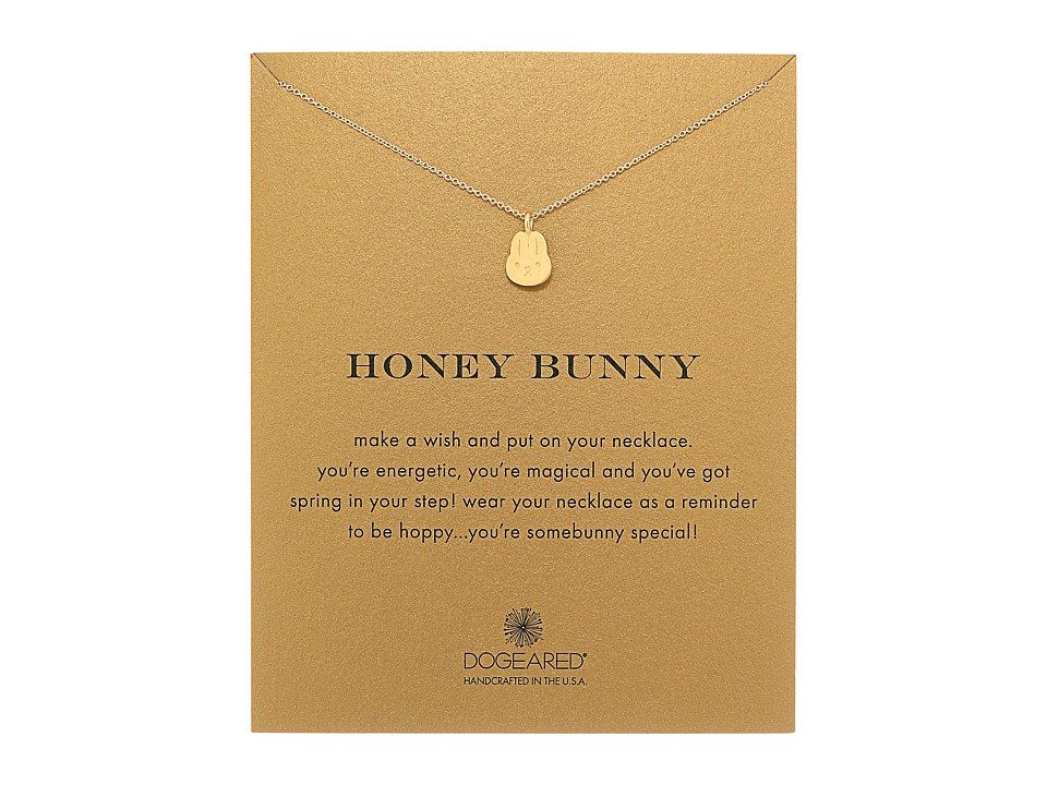 Dogeared - Honey Bunny Reminder Necklace (Gold Dipped) Necklace