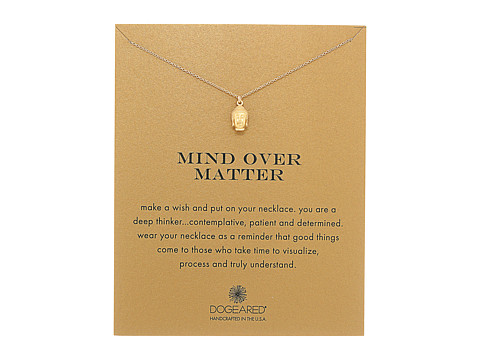 Dogeared Mind Over Matter Buddha Reminder Necklace - Gold Dipped