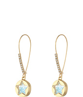 Betsey Johnson - Blue Shaky Star Shepherd's Hook Earrings