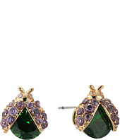 Betsey Johnson - Green Lady Bug CZ Stud Earrings