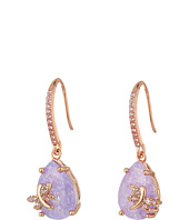Betsey Johnson - Lavender Dragonfly CZ Drop Earrings