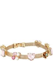 Betsey Johnson - Multi Charm Mesh Magnet Bracelet