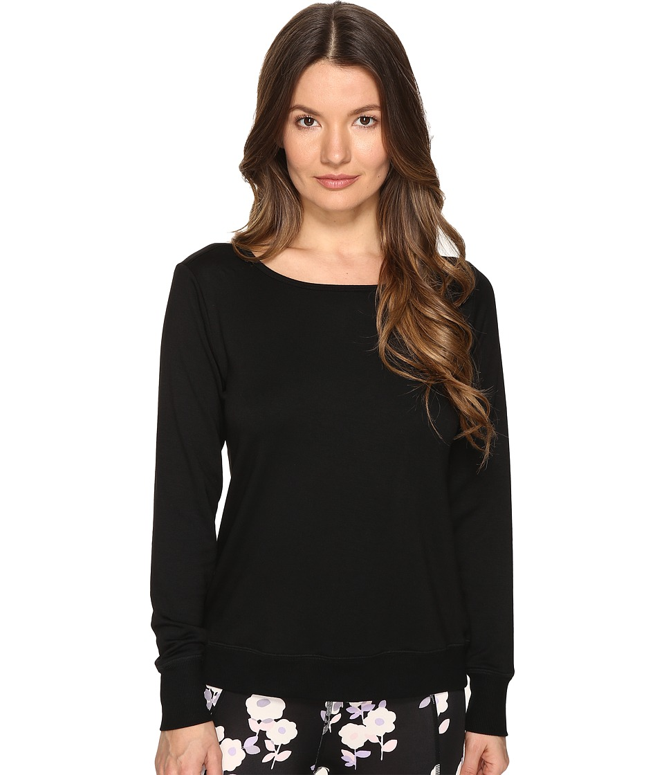 Kate Spade New York x Beyond Yoga Modal Terry Bow Pullover (Jet Black) Women