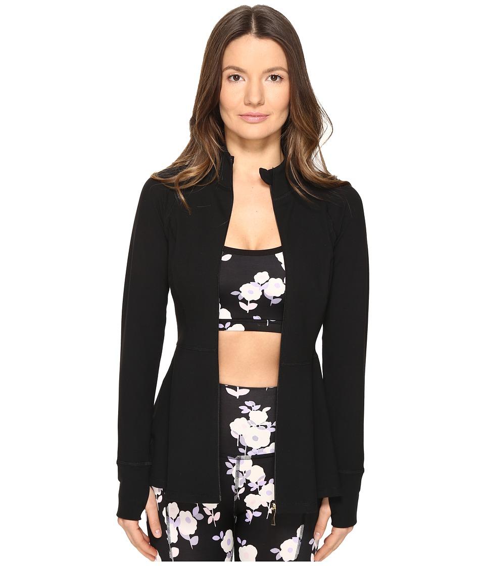 Kate Spade New York x Beyond Yoga Back Bow Flounce Jacket (Jet Black) Women