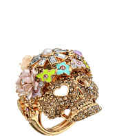 Betsey Johnson - Rose Gold/Pink Skull Flower Ring