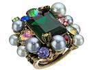 Betsey Johnson - Rose Hematite/Multi Cluster Ring