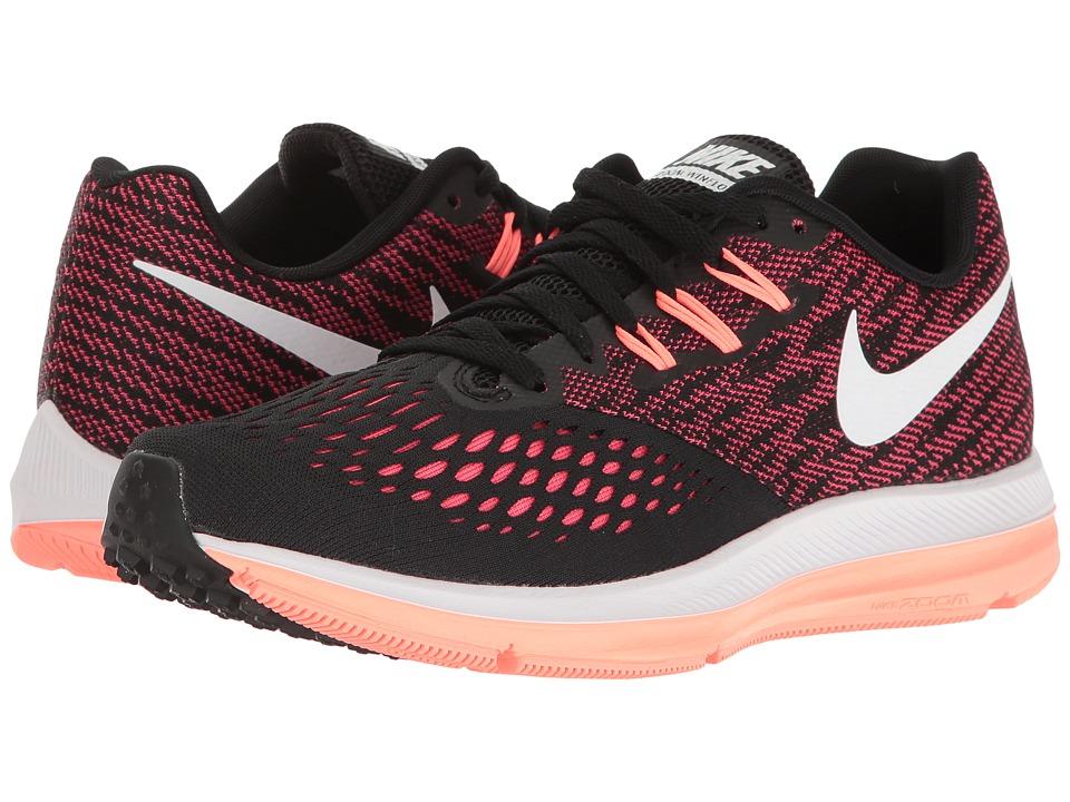 Nike Air Zoom Winflo 4 (Black/White/Racer Pink/Lava Glow) Women
