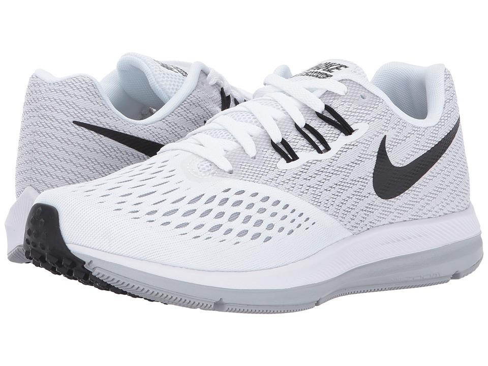 Nike Air Zoom Winflo 4 (White/Black/Wolf Grey) Women's Ru...