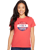 Life is good - Flag Circle Crusher Tee