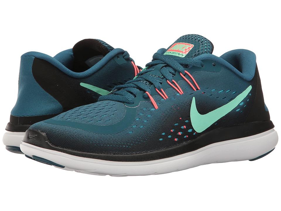 Nike - Flex RN 2017 (Legion Blue/Green Glow/Black/Hot Punch) Womens Running Shoes