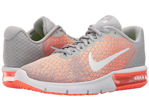 Nike Air Max Sequent 2 - Wolf Grey/White/Bright Mango/Sunset Glow