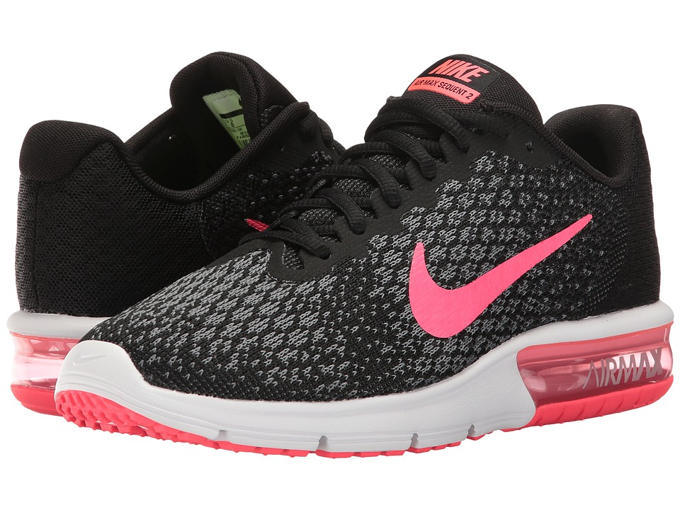 Nike Air Max Sequent 2 (Black/Racer Pink/Anthracite/Cool Grey) Women