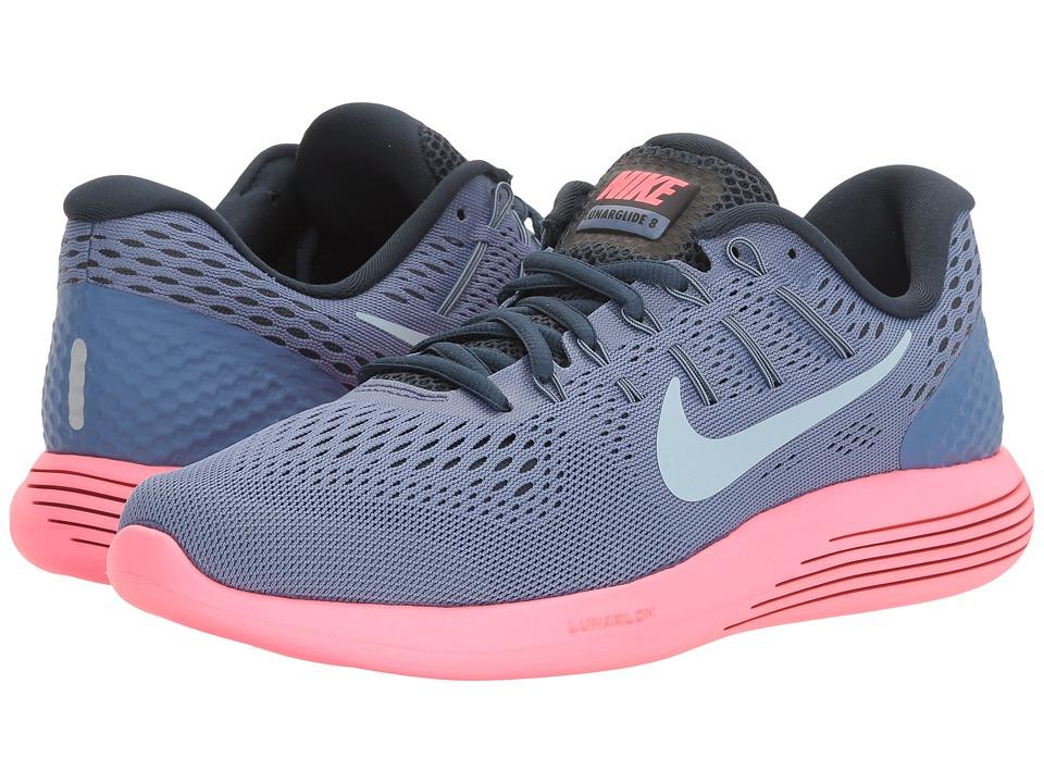 Nike Lunarglide 8 (Blue Moon/Ligh tArmory Blue/Racer Pink...