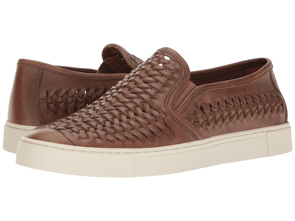 Frye Gabe Woven Slip-On (Tan Smooth Pull Up) Men