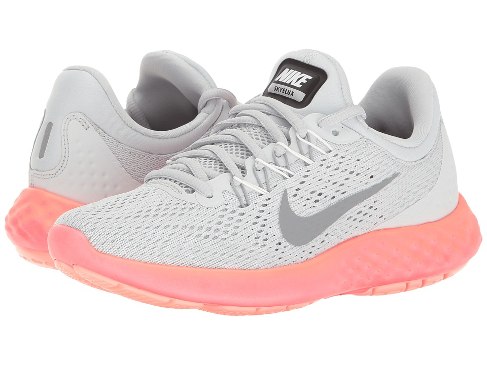 Nike - Lunar Skyelux (Pure Platinum/Stealth/Summit White) Womens Shoes