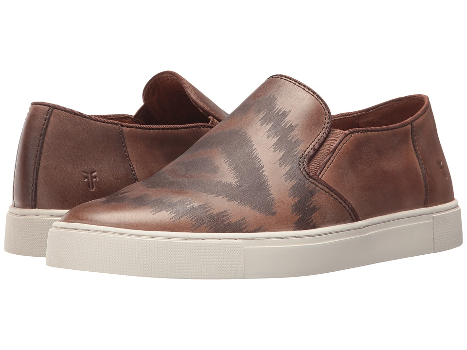 Frye - Gabe Laser Slip-On (Tan Smooth Pull Up) Mens Slip on  Shoes