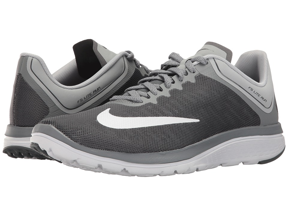 Nike - FS Lite Run 4 (Dark Grey/White/Wolf Grey/Cool Grey) Womens Shoes