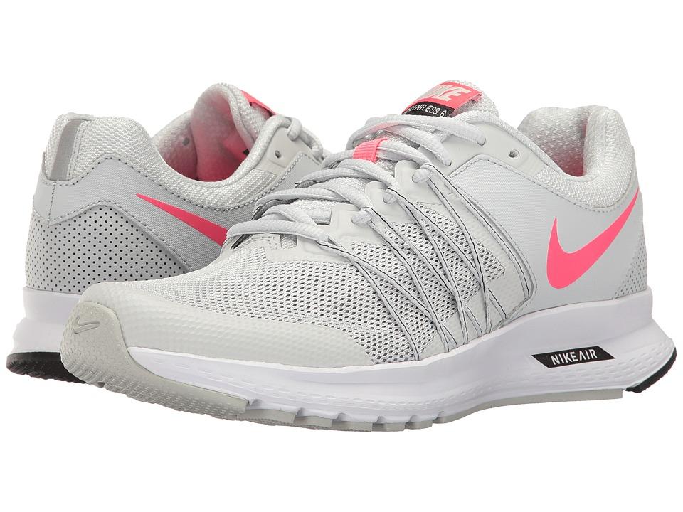 Nike - Air Relentless 6 (Pure Platinum/Racer Pink/Black) Womens Running Shoes