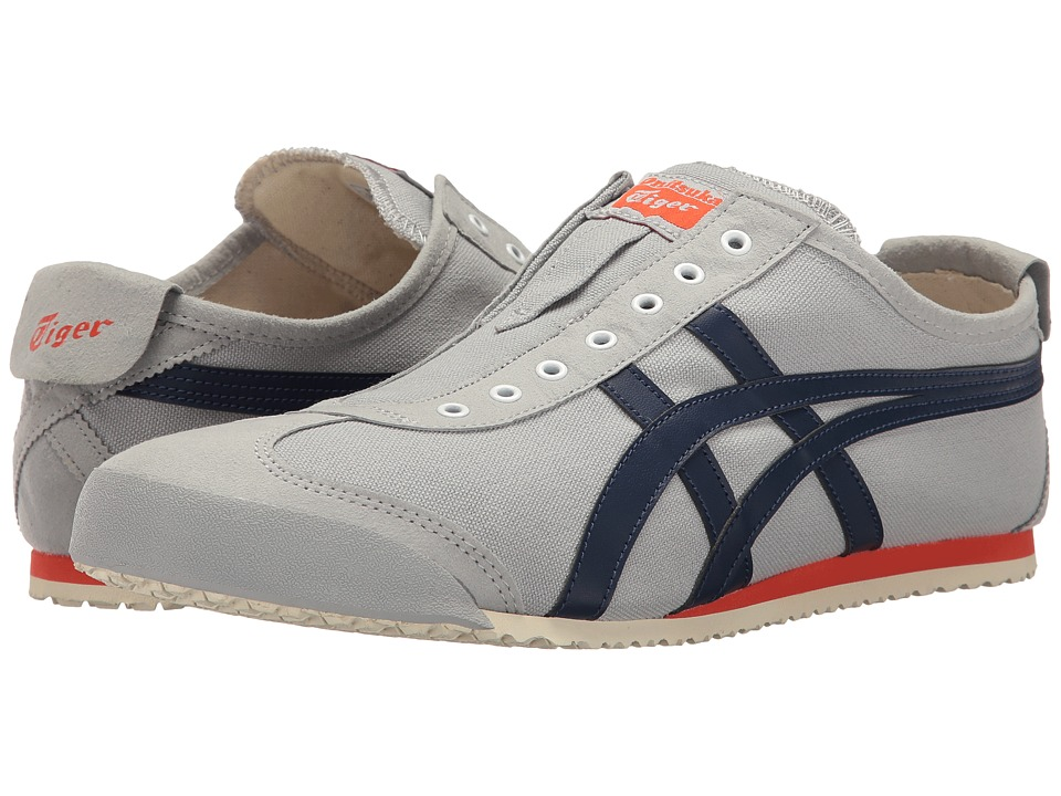 Onitsuka Tiger by Asics - Mexico 66(r) Slip-On (Mid Grey/Indigo Blue) Shoes