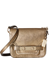 COACH - Metallic Pebble Leather Small Swagger Shoulder Bag