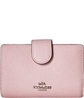 COACH - Crossgrain Leather Medium Corner Zip Wallet