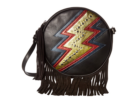 Just Cavalli Leather Lightning Bolt Bag