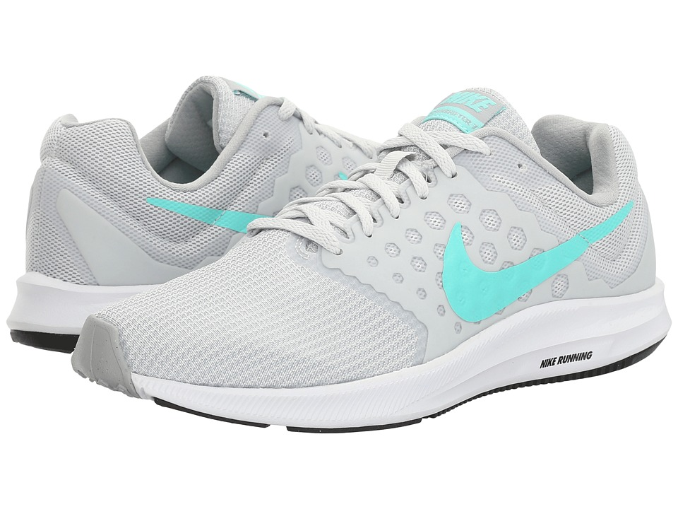 Nike - Downshifter 7 (Pure Platinum/Hyper Turquoise/Black/Wolf Grey) Womens Running Shoes