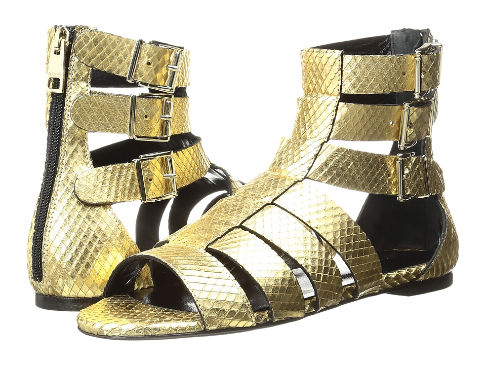 Just Cavalli Python Leather Sandal (Gold) Women
