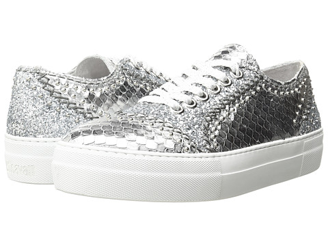 Just Cavalli Python Leather and Glitter Sneaker