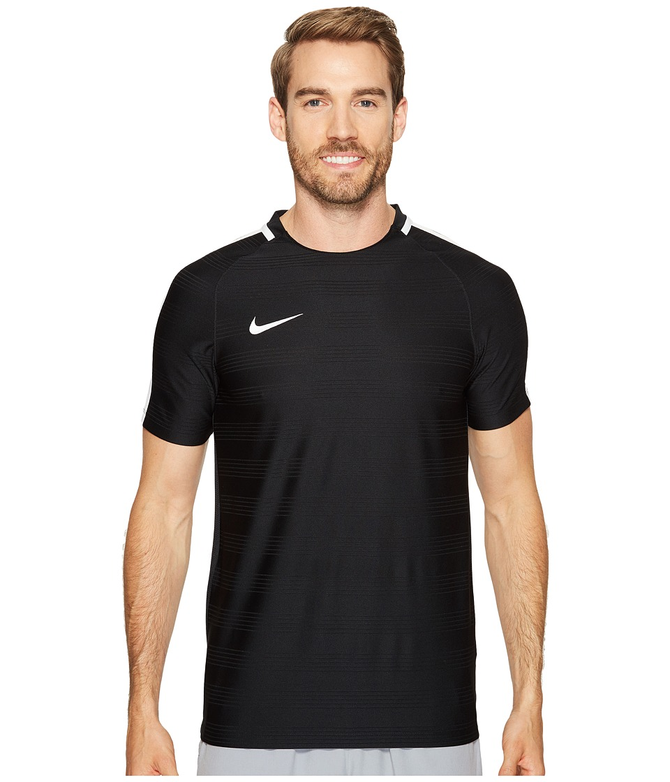 Nike Dry Squad Soccer Top (Black/White/White) Men