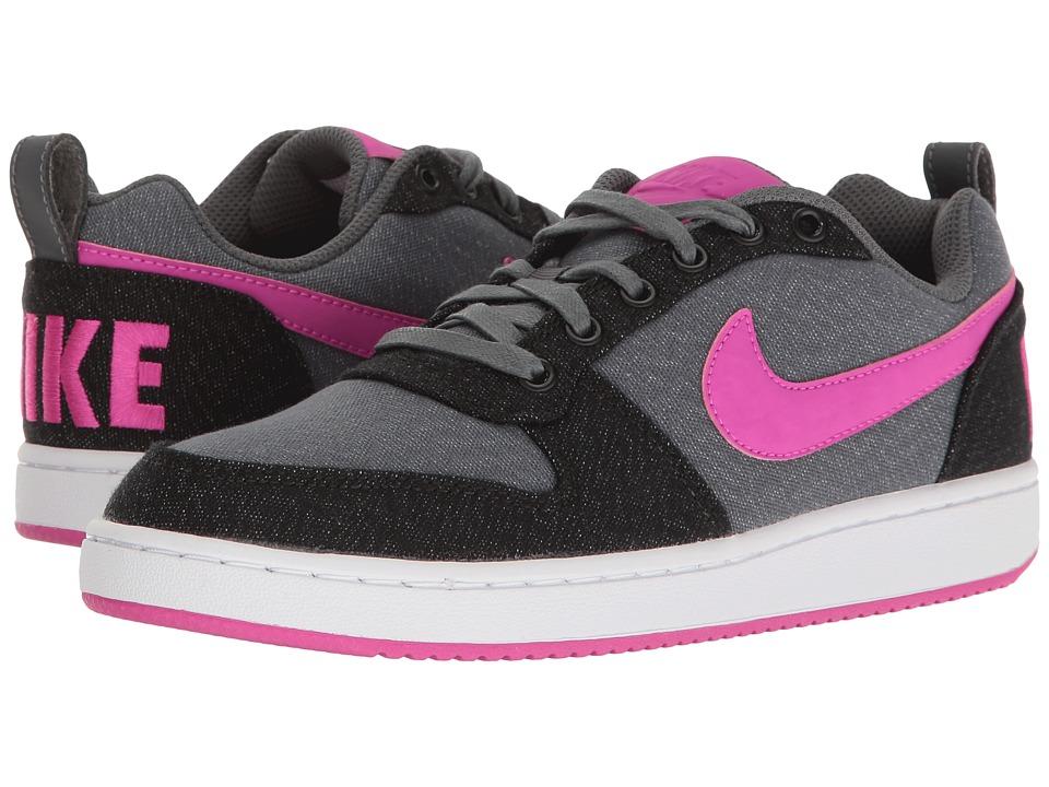 Nike Court Borough Low Premium (Dark Grey/Fire Pink/Black/White) Women