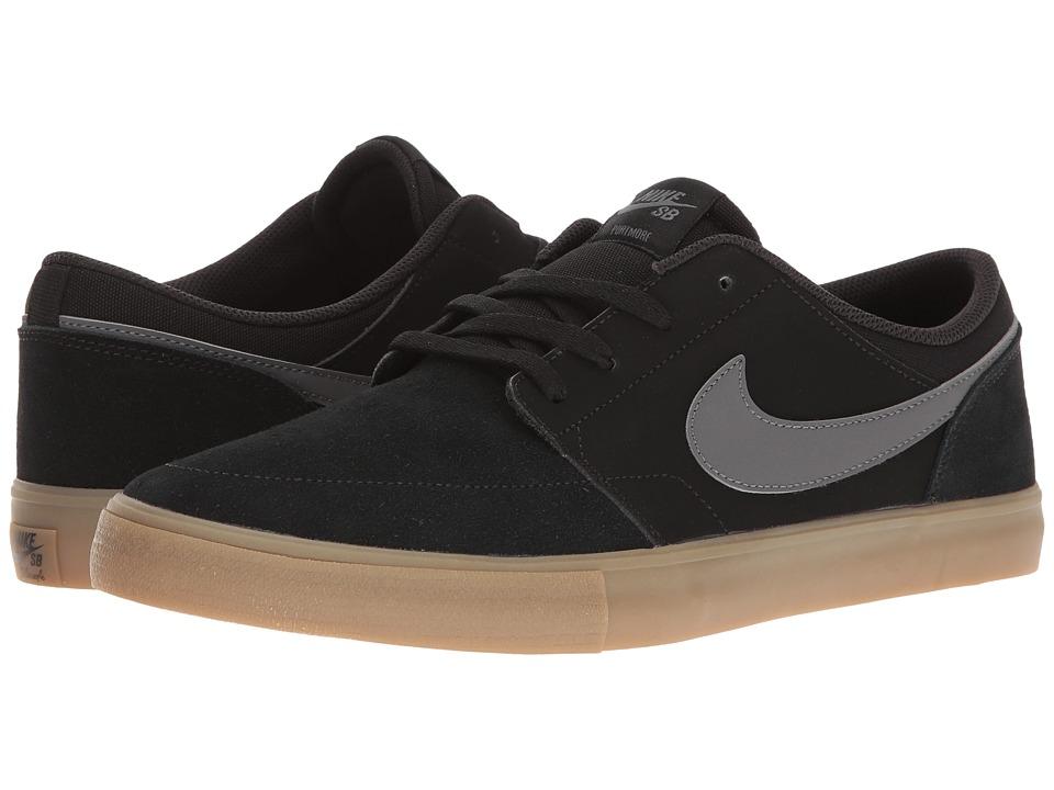 Nike SB Portmore II Solar (Black/Dark Grey/Gum Light Brown) Men