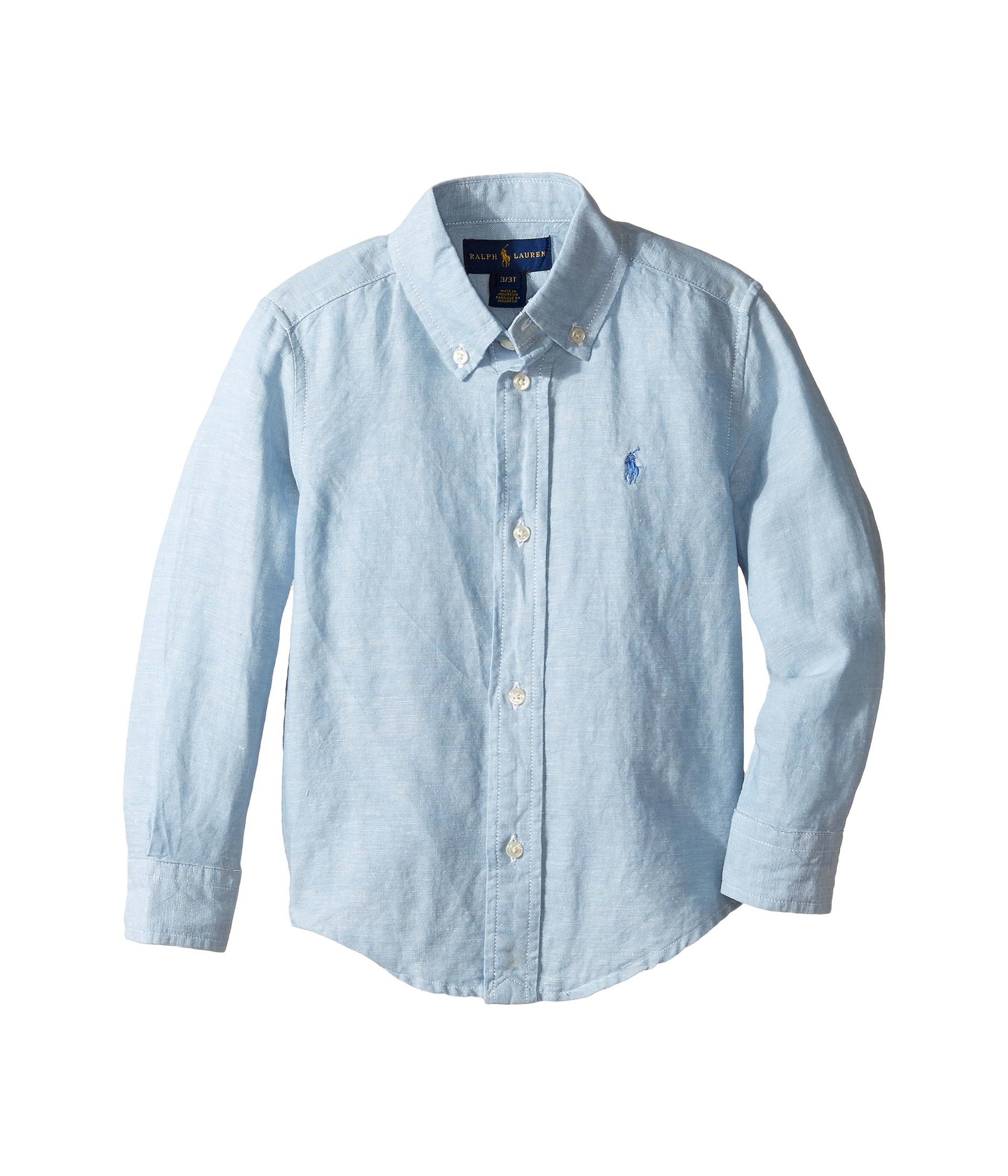 Polo ralph lauren kids linen chambray long sleeve button for Chambray shirt for kids