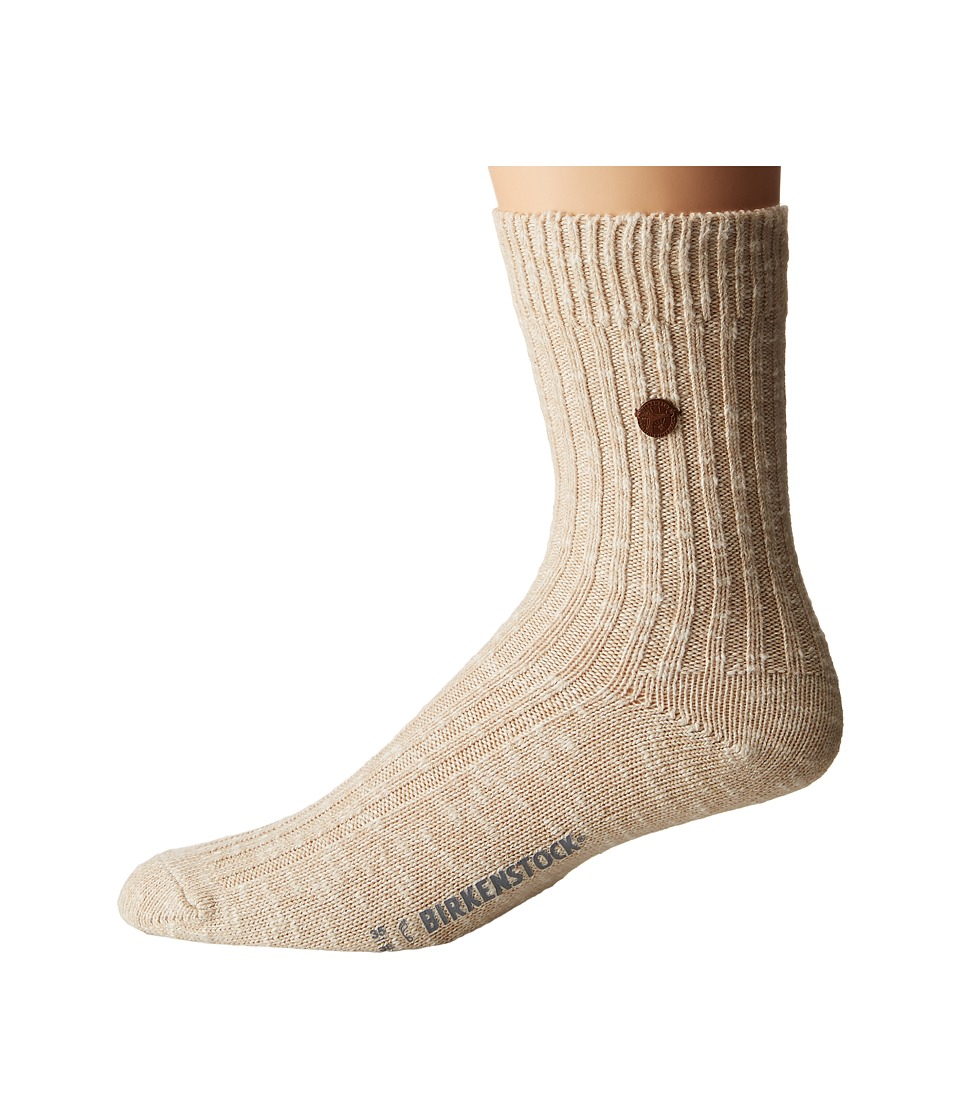 Birkenstock London Socks (Beige) Crew Cut Socks Shoes