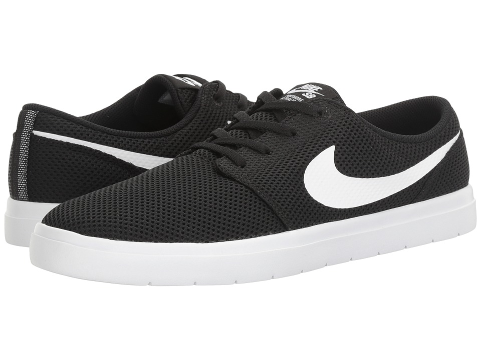 Nike SB Portmore II Ultralight (Black/White) Men