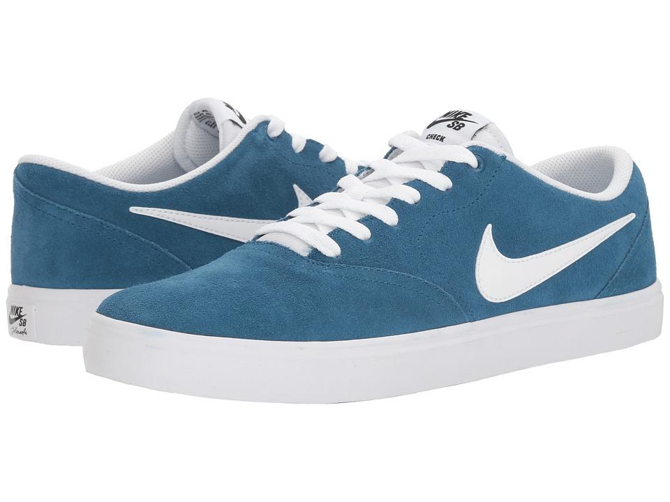 Nike SB Check Solar Suede (Industrial Blue/White/Black) Men