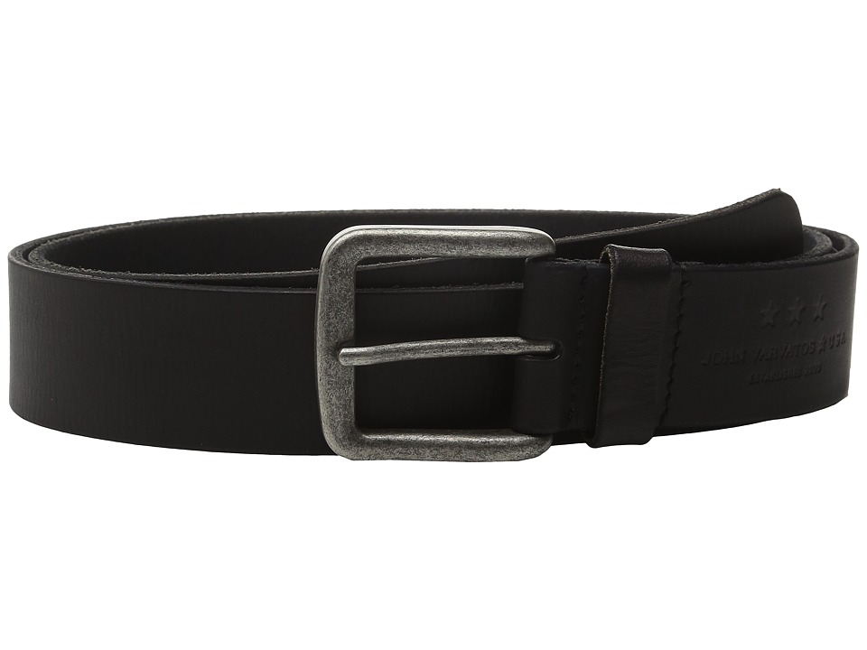 John Varvatos 40mm Fullweight Leather Harness Belt (Black) Men