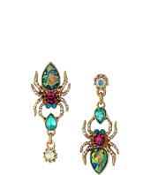 Betsey Johnson - Multi Spider Peacock Feather Earrings