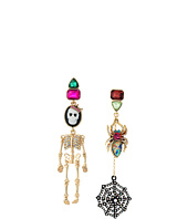 Betsey Johnson - Cameo Skull Doll Earrings