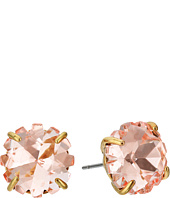 Betsey Johnson - Pink Glitter Stone Stud Earrings
