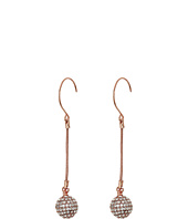 Betsey Johnson - Rose Gold Fireball Linear Earrings