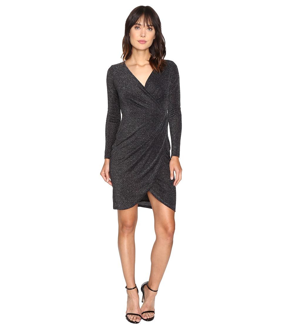 CATHERINE Catherine Malandrino Long Sleeve Wrap Dress (Disco Black) Women
