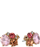 Betsey Johnson - Pink Multi Cluster Stud Earrings