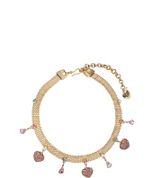 Betsey Johnson - Multi Charm Mesh Choker Necklace