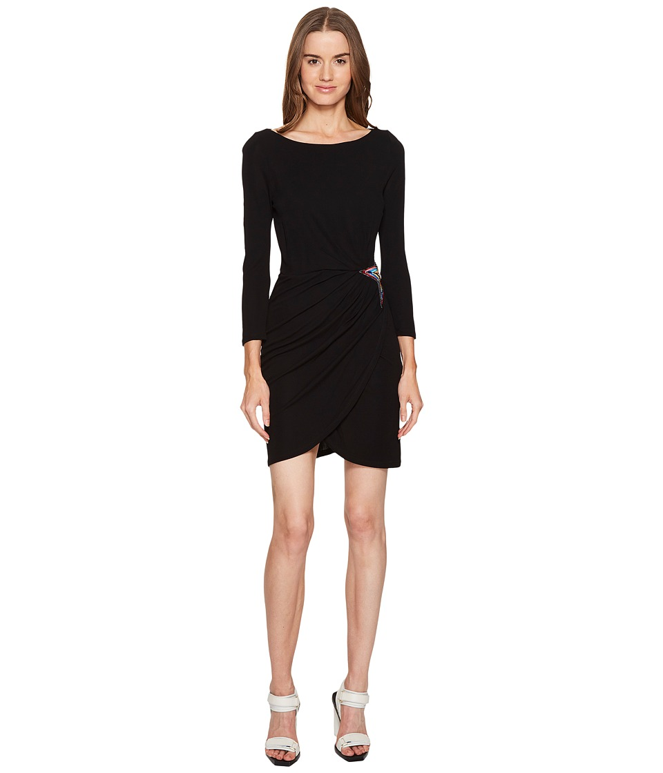 Just Cavalli Long Sleeve Jersey Star Dress (Black) Women