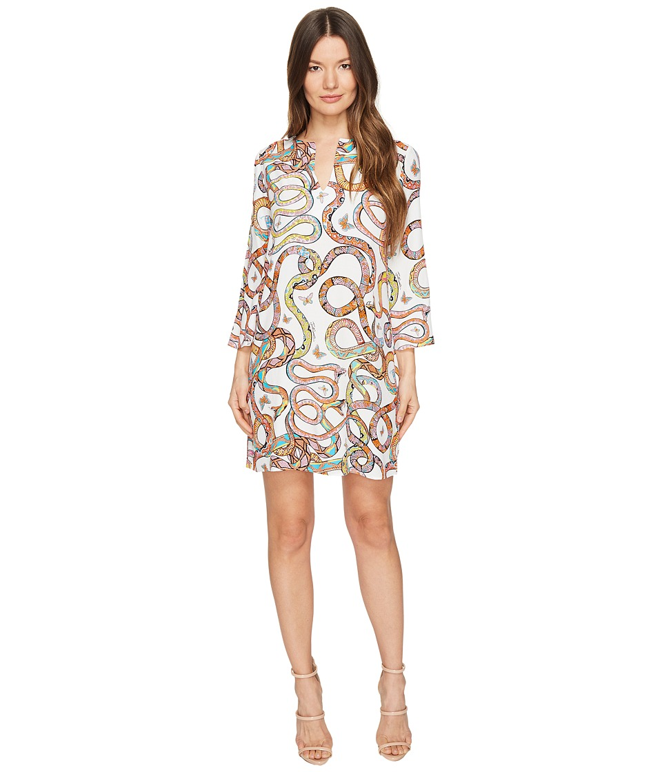 Just Cavalli Obsession Wonders Long Sleeve Shift Dress (White Variant) Women